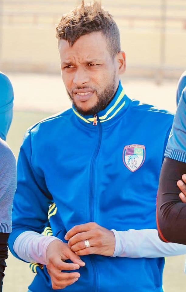 بسام لاعب  نادي نواذيبو والمنتخب الموريتانيجاهز للمشاركة أمام الرجاء