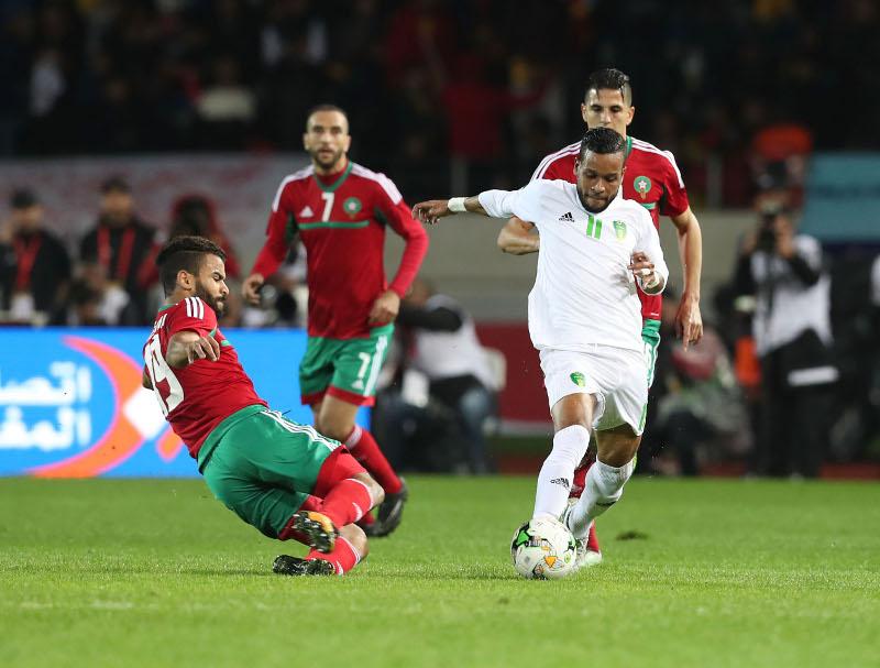 صورة لمواجهة المغرب وموريتانيا في افتتاح البطولة